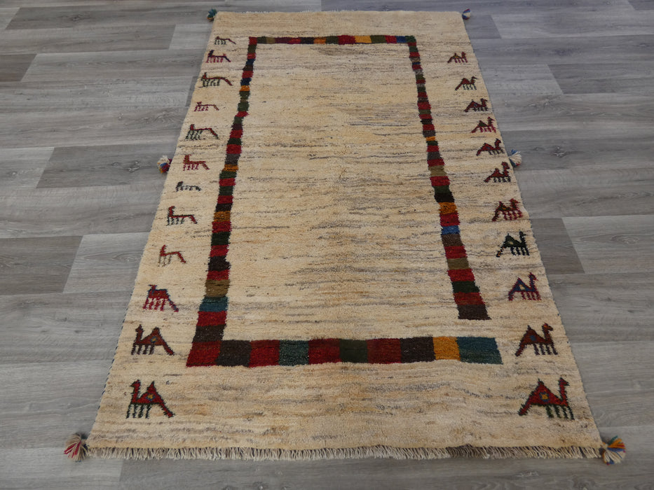 Authentic Persian Hand Knotted Gabbeh Rug Size: 187 x 116cm-Persian Gabbeh Rug-Rugs Direct