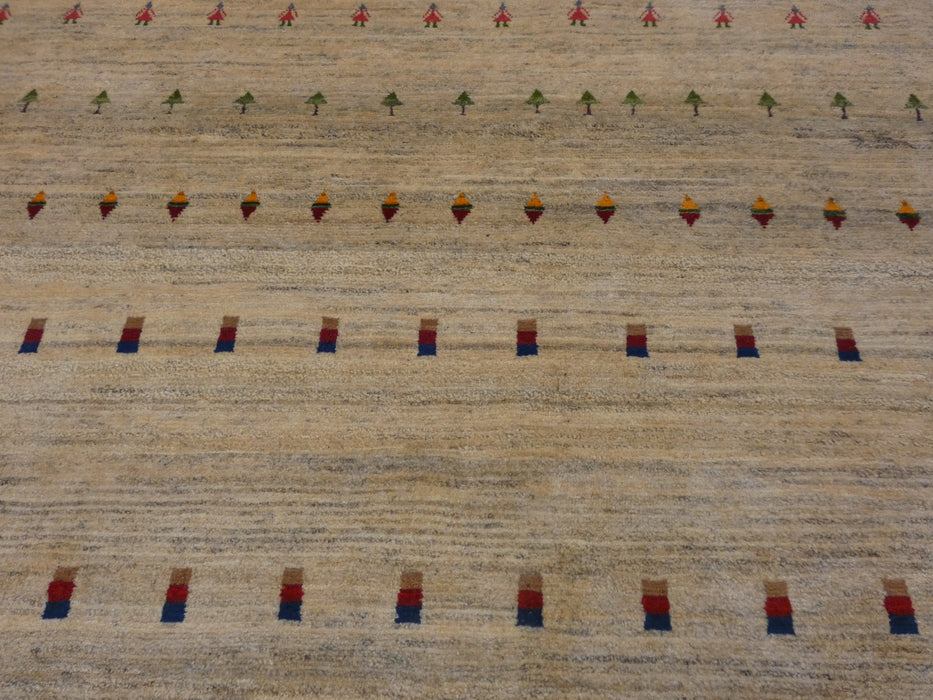 Authentic Persian Hand Knotted Gabbeh Rug Size: 300 x 216cm-Persian Gabbeh Rug-Rugs Direct
