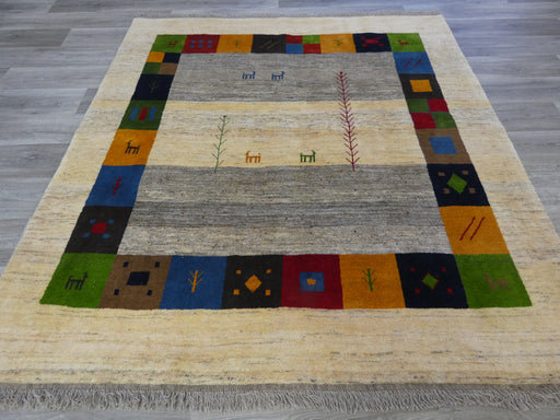 Authentic Persian Hand Knotted Gabbeh Square Rug Size: 207 x 195cm