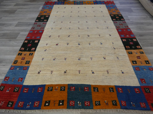 Authentic Persian Hand Knotted Gabbeh Rug Size: 283 x 203cm