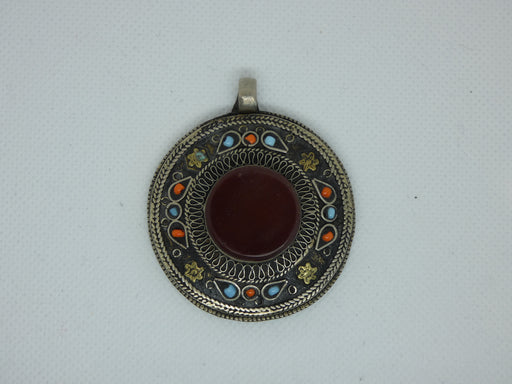 Nepalese Tibetan Necklace Pendant, Handmade and Traditional