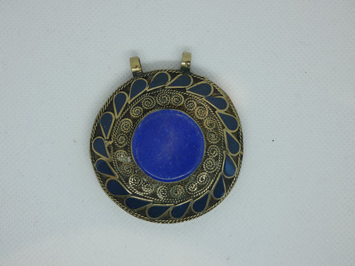Tibetan Necklace Pendant, Handmade and Traditional