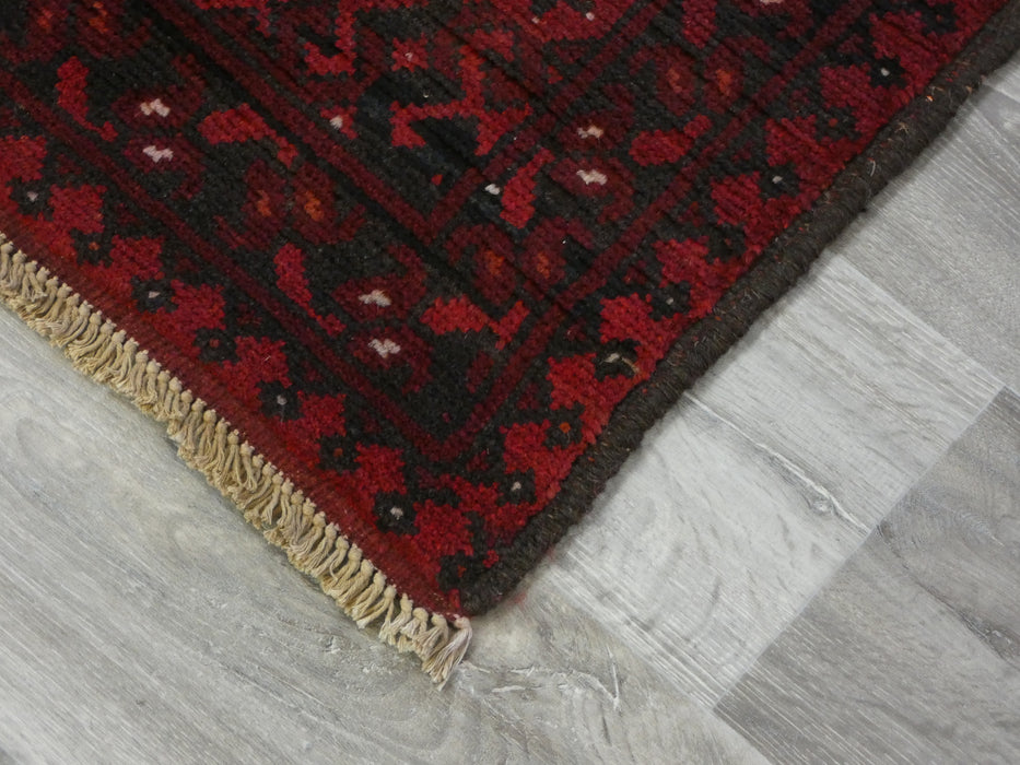 Afghan Hand Knotted Turkman Rug Size: 245cm x 163cm-Afghan Rug-Rugs Direct
