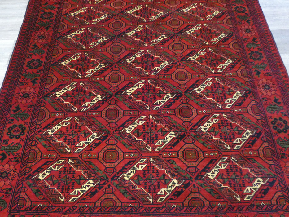 Afghan Hand Knotted Khal Mohammadi Rug Size: 190 x 147cm-Afghan Rugs-Rugs Direct