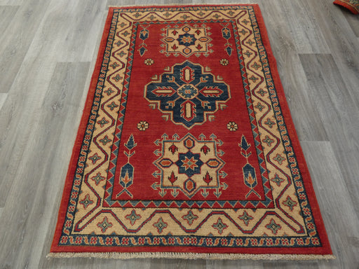 Afghan Hand Knotted Kazak Rug Size: 146 x 99cm-Afghan Rug-Rugs Direct