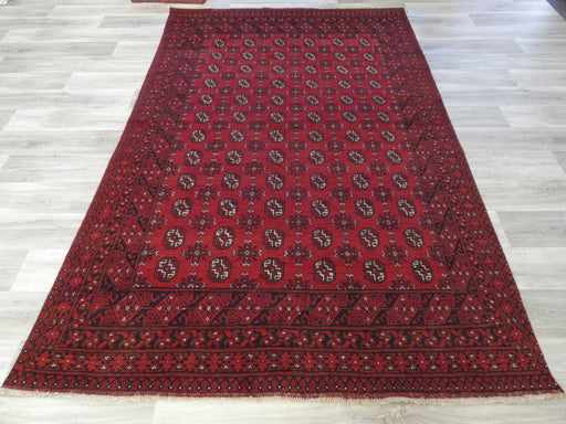 Afghan Hand Knotted Turkman Rug Size: 287 x 192cm