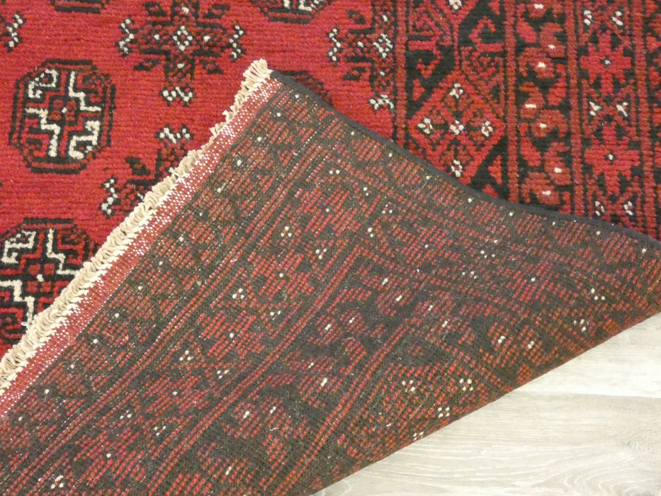 Afghan Hand Knotted Turkman Rug Size: 287 x 192cm-Afghan Rug-Rugs Direct