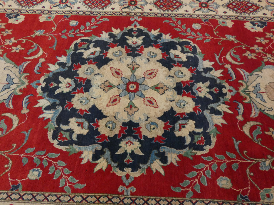 Afghan Hand Knotted Kazak Rug Size: 300 x 181cm-Oriental Rug-Rugs Direct