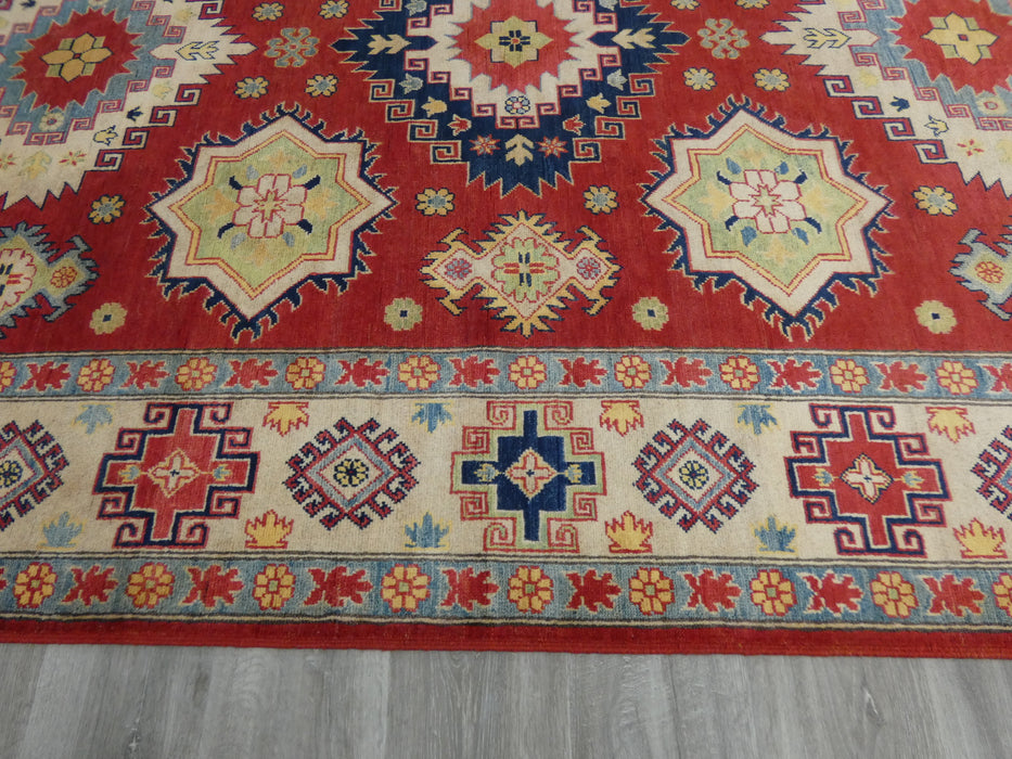Afghan Hand Knotted Kazak Rug Size: 300 x 202cm-Oriental Rug-Rugs Direct