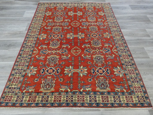 Afghan Hand Knotted Kazak Rug Size: 205 x 157cm