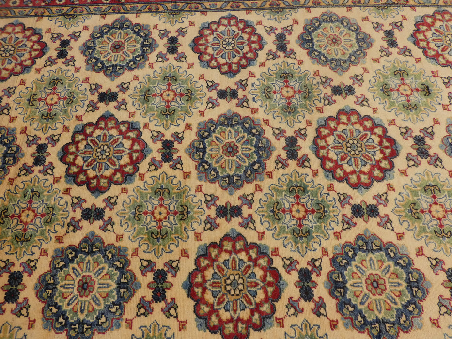 Afghan Hand Knotted Kazak Rug Size: 205 x 148cm-Afghan Rug-Rugs Direct