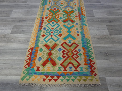 Afghan Hand Made Choubi Kilim Runner Size: 398 x 86cm-Kilim-Rugs Direct