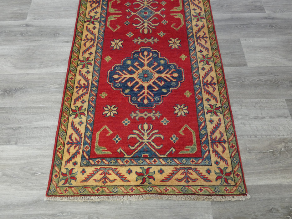 Afghan Hand Knotted Kazak Runner Size: 297 x 82cm-Kazak Rug-Rugs Direct