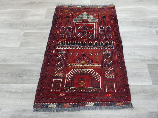 Afghan Hand Knotted Prayer Rug Size: 76 x 114cm-Prayer Rug-Rugs Direct