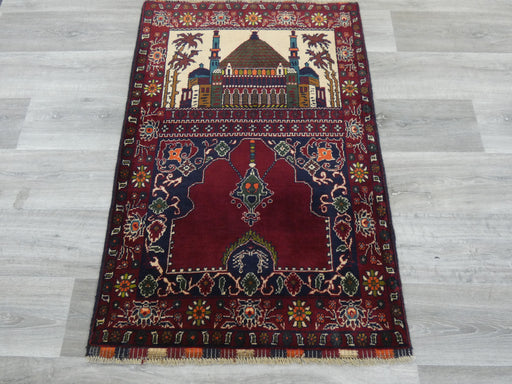 Afghan Hand Knotted Prayer Rug Size: 80 x 119cm-Prayer Rug-Rugs Direct