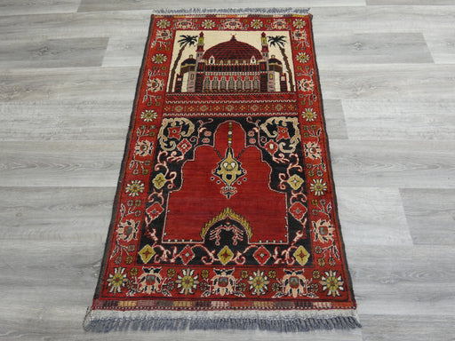 Afghan Hand Knotted Prayer Rug Size: 75 x 129cm-Prayer Rug-Rugs Direct