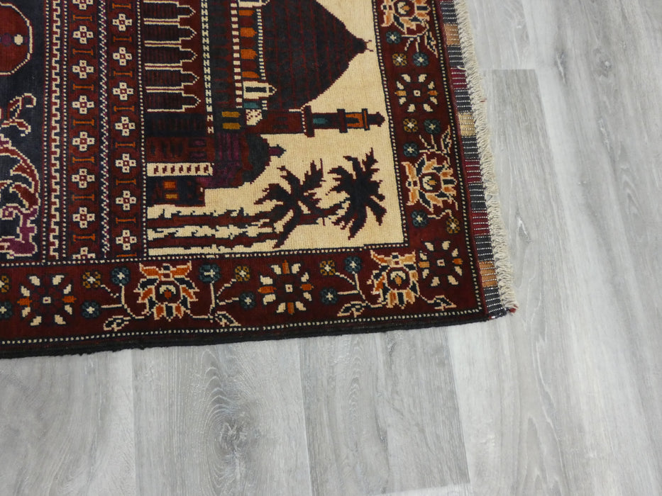 Afghan Hand Knotted Prayer Rug Size: 80 x 115cm-Prayer Rug-Rugs Direct