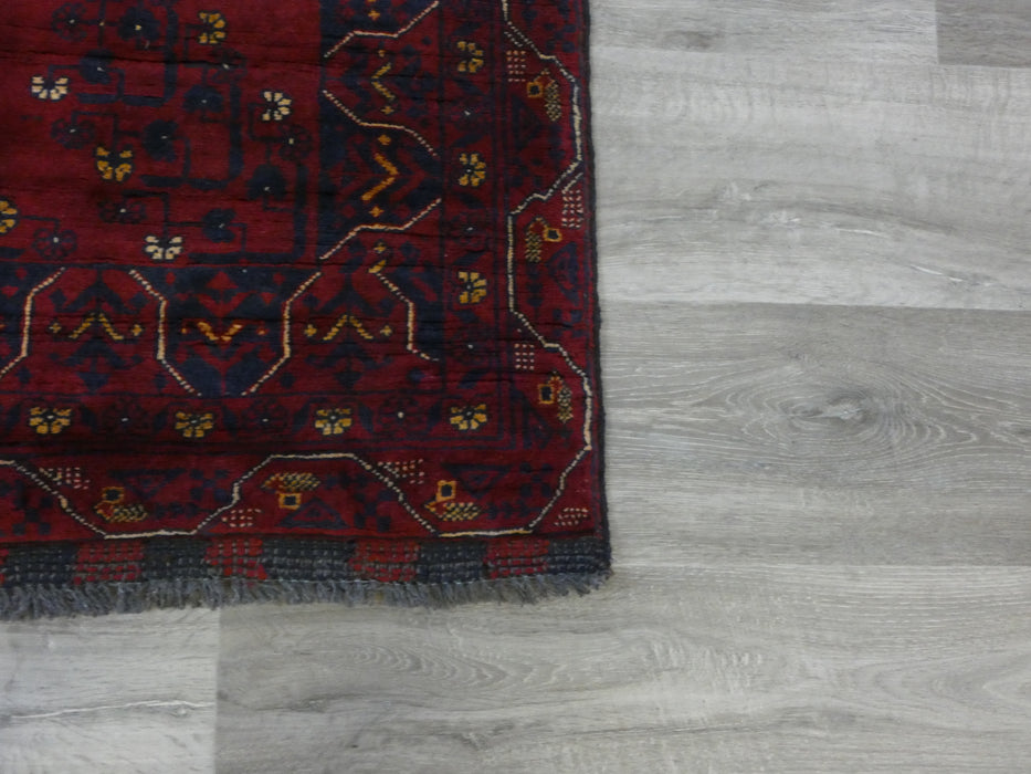 Afghan Hand Knotted Khal Mohammadi Runner Size: 290 x 94cm-Afghan Runner-Rugs Direct