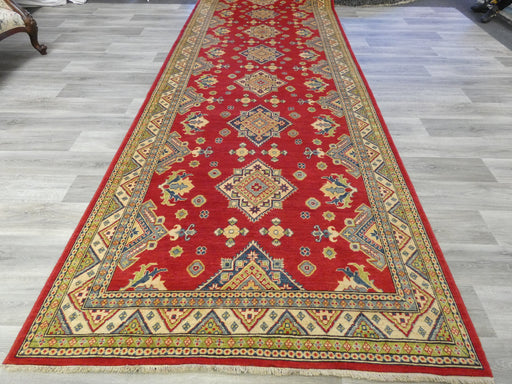 Afghan Hand Knotted Kazak Oversized Hallway Runner Size: 597 x 162cm