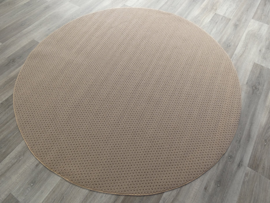 Pablo Beige Non-Slip Rubber Back Round Rug-Rubber Back-Rugs Direct