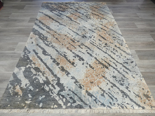 Bamboo Silk Hand Knotted Distressed Design Rug Size: 174 x 260cm-Bamboo Silk-Rugs Direct