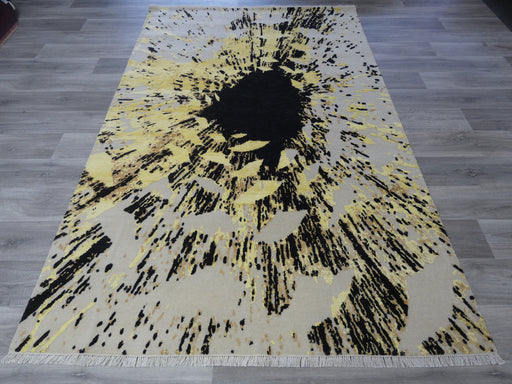 Bamboo Silk Hand Knotted Modern Design Rug Size: 180 x 274cm-Bamboo Silk-Rugs Direct