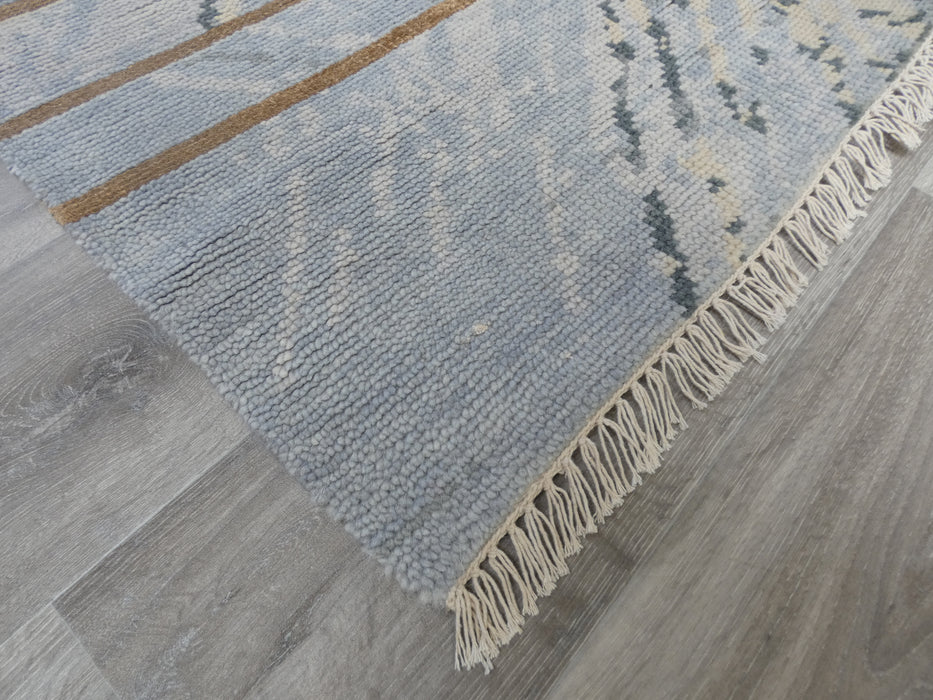 NZ Wool & Bamboo Silk Hand Knotted Abstract Design Rug Size: 179 x 275cm-Bamboo Silk-Rugs Direct