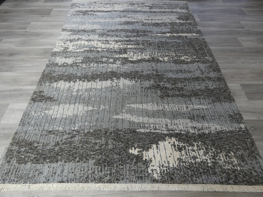 NZ Wool & Bamboo Silk Hand Knotted Modern Design Rug Size: 188 x 272cm-Bamboo Silk-Rugs Direct