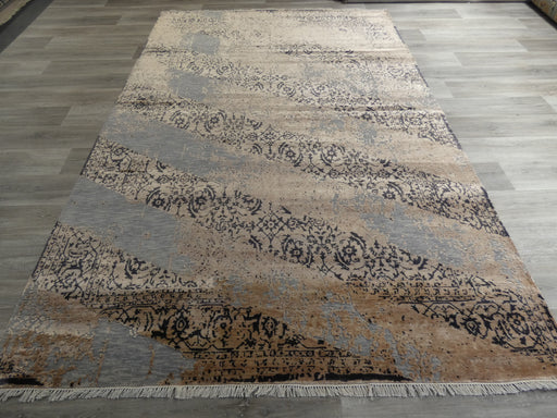 Bamboo Silk & NZ Wool Hand Knotted Vintage Design Rug Size: 203 x 303cm