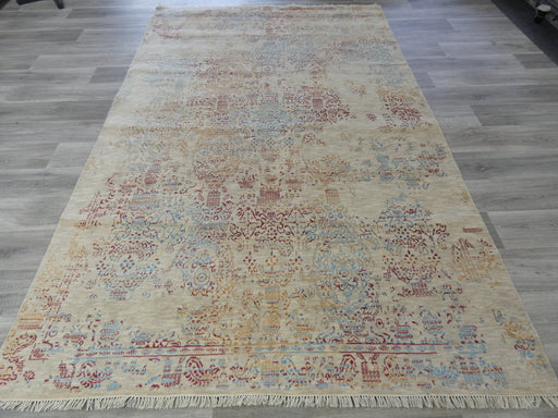Bamboo Silk & NZ Wool Hand Knotted Vintage Design Rug Size: 195 x 306cm-Vintage Rug-Rugs Direct