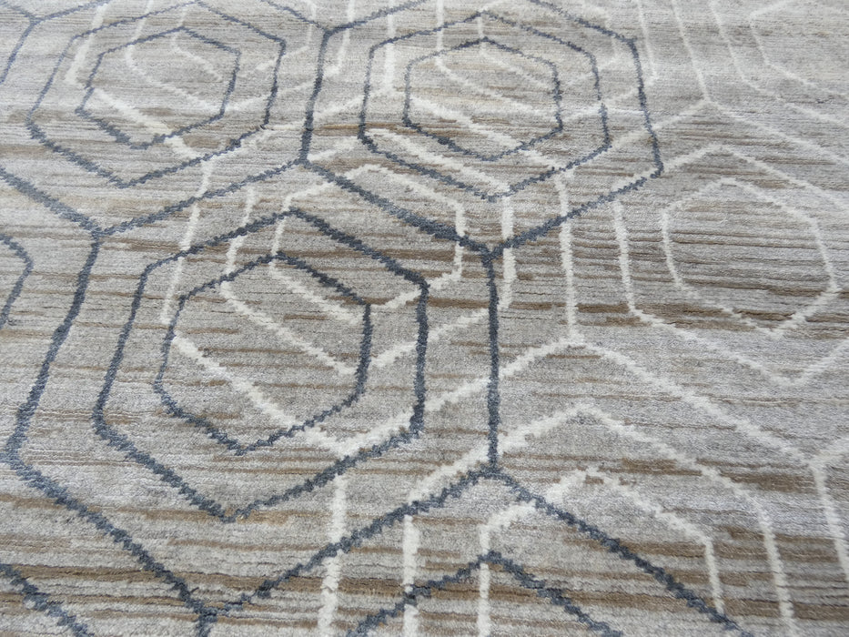 Bamboo Silk Hand Knotted Modern Design Rug Size: 199 x 292cm-Bamboo Silk-Rugs Direct