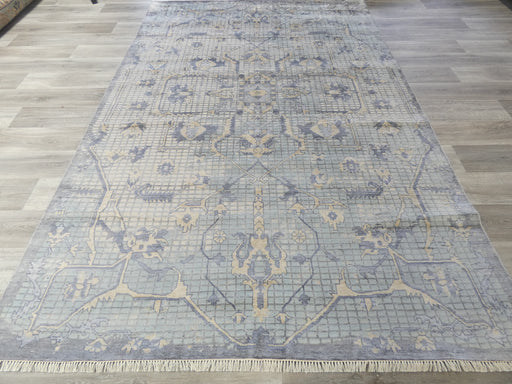 Bamboo Silk & Nz Wool Hand Knotted Traditional Mosaic Design Rug Size: 201 x 310cm-Vintage Design Rug-Rugs Direct