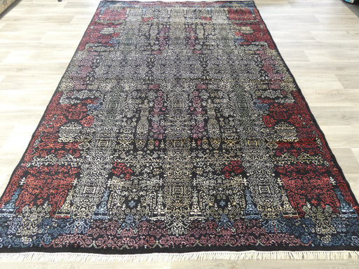 Bamboo Silk & NZ Wool Hand Knotted Vintage Design Rug Size: 208 x 304cm-Vintage Rug-Rugs Direct