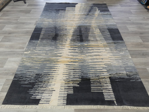 NZ Wool & Bamboo Silk Hand Knotted Modern Design Rug Size: 200 x 301cm-Bamboo Silk-Rugs Direct