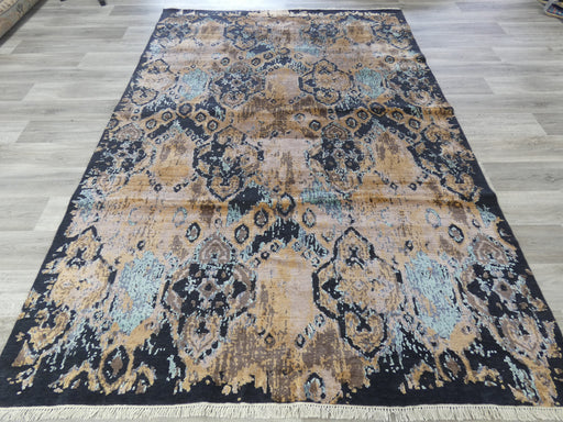 Bamboo Silk & NZ Wool Hand Knotted Erased Design Rug Size: 205 x 298cm