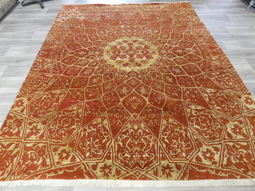 Bamboo Silk & NZ Wool Hand Knotted Traditional Design Rug Size: 247 x 303cm