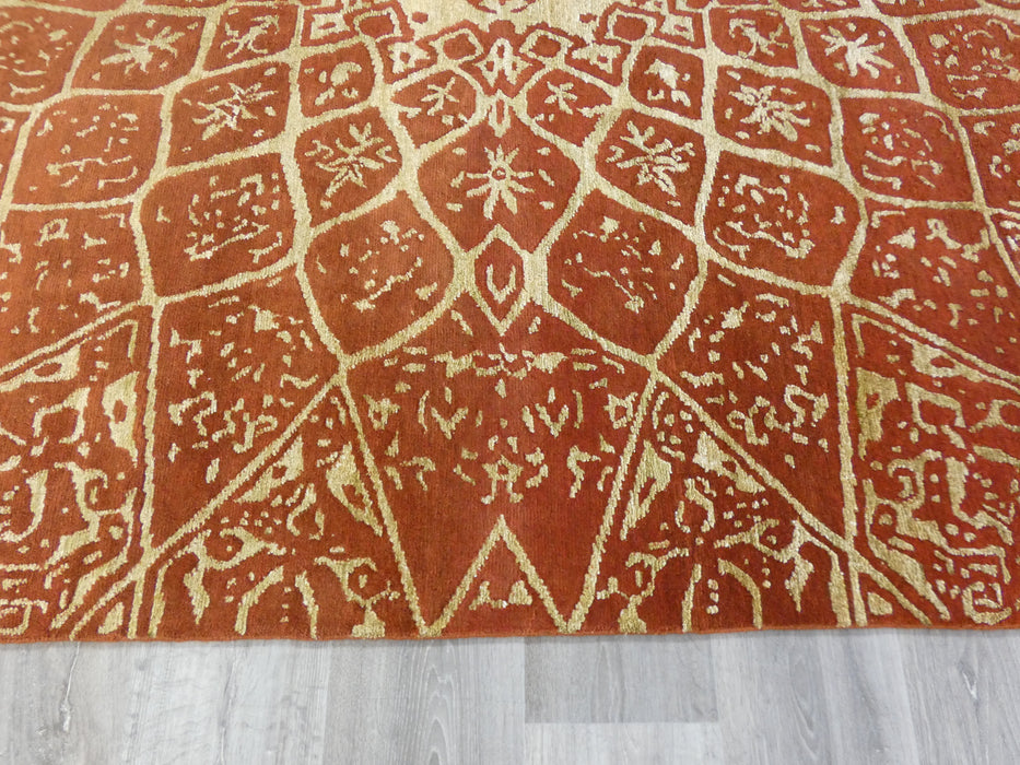 Bamboo Silk & NZ Wool Hand Knotted Traditional Design Rug Size: 247 x 303cm-Modern Rug-Rugs Direct