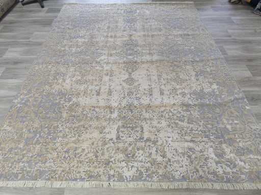 Spectacular Bamboo Silk & NZ Wool Hand Knotted Erased Design Rug Size: 246 x 305m-Bamboo Silk-Rugs Direct