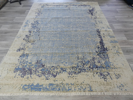 Spectacular Bamboo Silk & NZ Wool Hand Knotted Erased Design Rug Size: 235 x 300m
