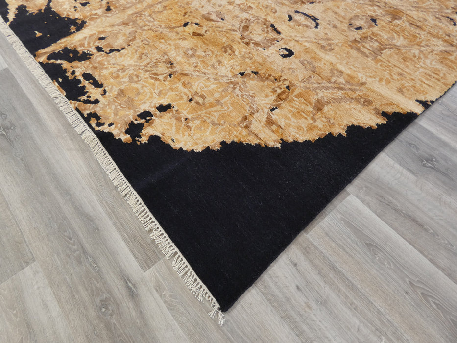 Bamboo Silk & NZ Wool Hand Knotted Golden Tree Design Rug Size: 236 x 299cm-Modern Rug-Rugs Direct