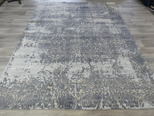 Bamboo Silk and Nz Wool Hand Knotted Distressed Design Rug Size: 240 x 301cm-Bamboo Silk-Rugs Direct