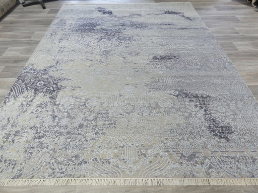 Bamboo Silk and Nz Wool Hand Knotted Erased Design Rug Size: 242 x 301cm