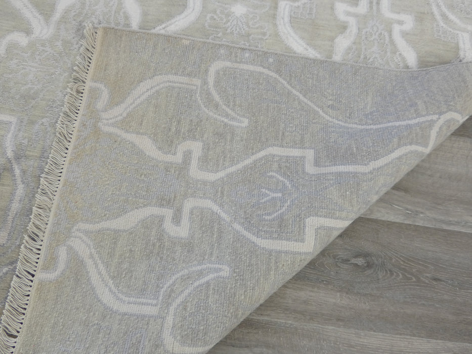 Bamboo Silk and Nz Wool Hand Knotted Ornate Design Rug Size: 244 x 309cm-Bamboo Silk-Rugs Direct