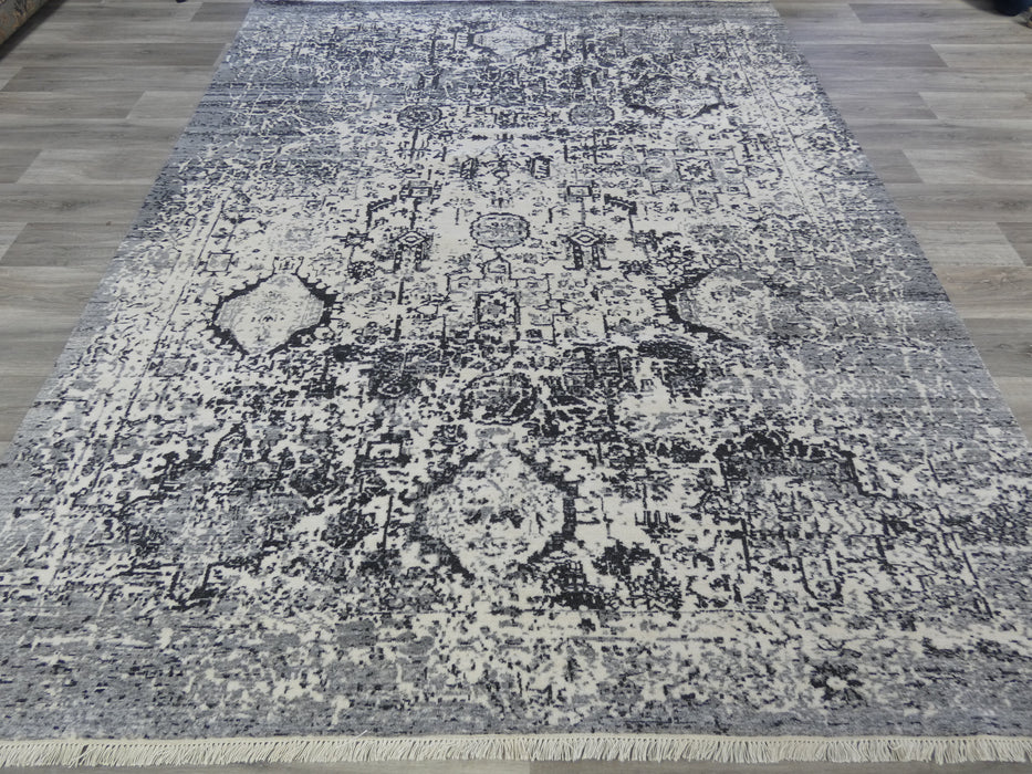 NZ Wool Hand Knotted Vintage Design Rug Size: 238 x 300cm-Vintage Rug-Rugs Direct