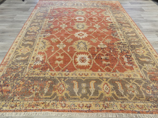 Hand Knotted Oushak Rug Size: 236 x 297cm