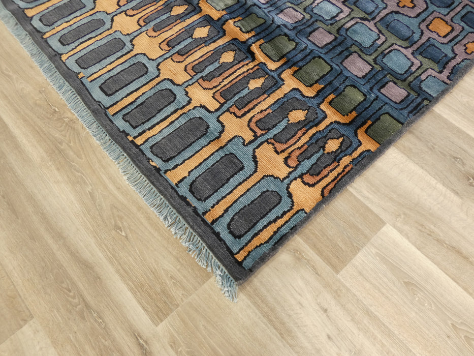Stunning Luxurious Bamboo Silk Hand Knotted Modern Design Rug Size: 239 x 304cm-Modern Rug-Rugs Direct