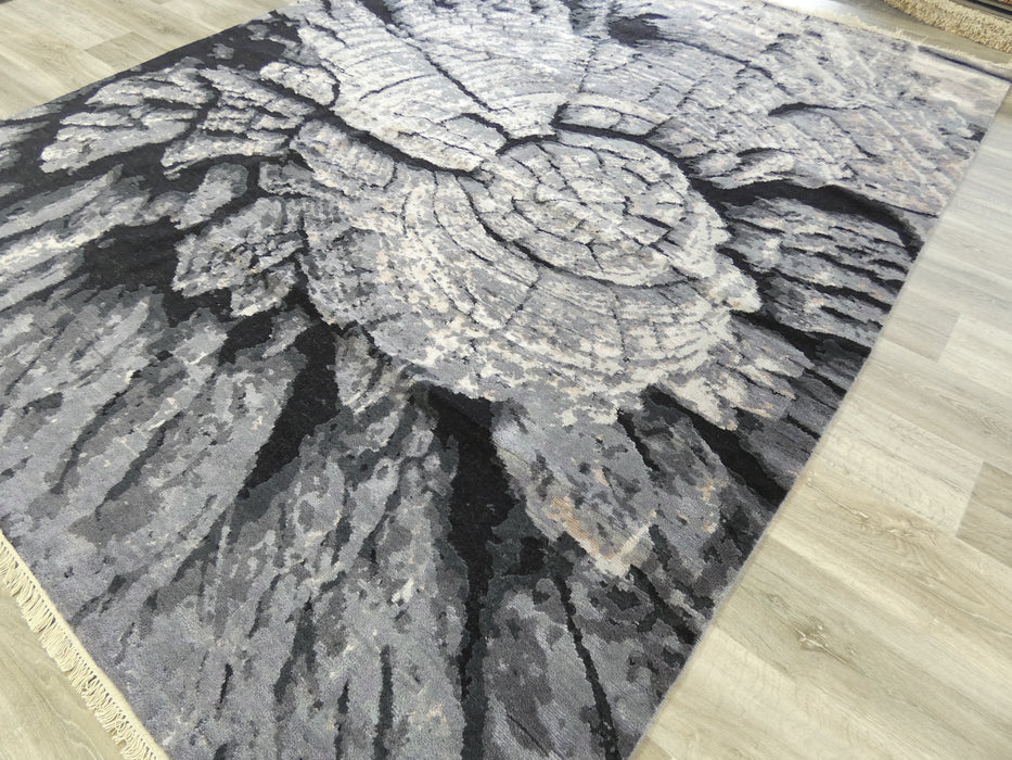 Bamboo Silk and Nz Wool Hand Knotted Tree Trunk Design Rug Size: 246 x 304cm-Bamboo Silk-Rugs Direct