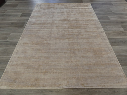 Linen Colour Hand Loomed Bamboo Silk Look Rug-Bamboo Silk-Rugs Direct