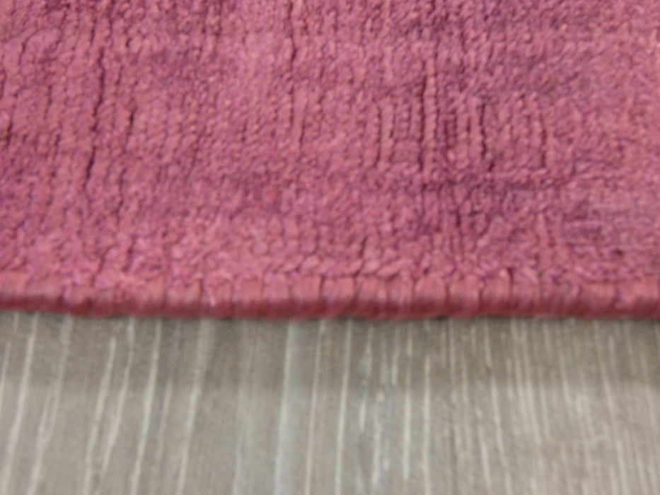 Rouge Colour Hand Loomed Bamboo Silk Look Rug-Bamboo Silk-Rugs Direct