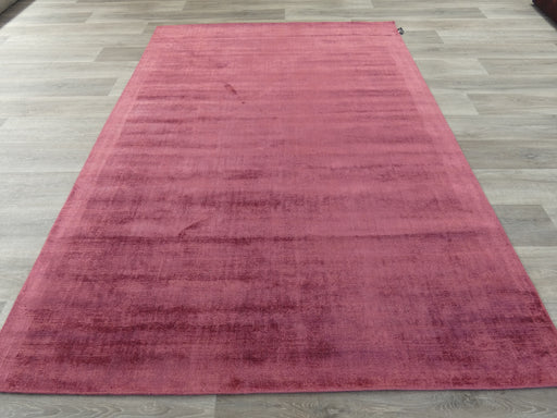 Rouge Colour Hand Loomed Bamboo Silk Look Rug